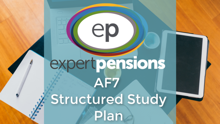 AF7 pension transfers structured study plan image