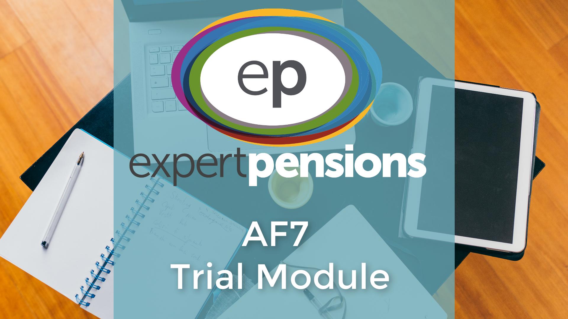 AF7 pension transfers Trial Module image