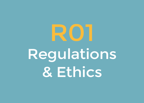 R01 Regulations and Ethics logo